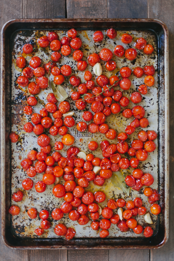 Slow Roasted Tomatoes with Garlic and Thyme